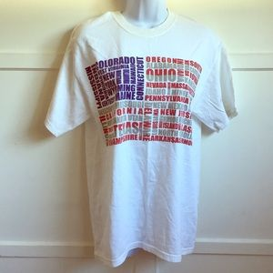 Other - American Flag T-Shirt with All State Names, Unisex